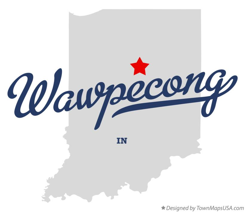 Map of Wawpecong Indiana IN