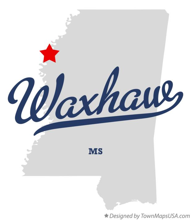 Map of Waxhaw Mississippi MS
