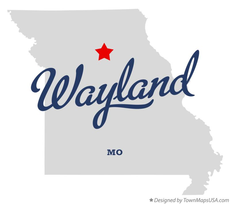 Map of Wayland Missouri MO