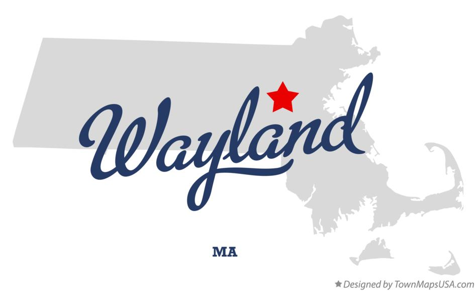 Map of Wayland Massachusetts MA