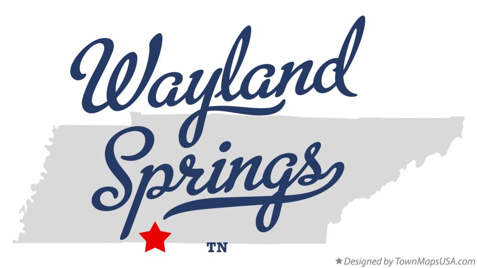 Map of Wayland Springs Tennessee TN