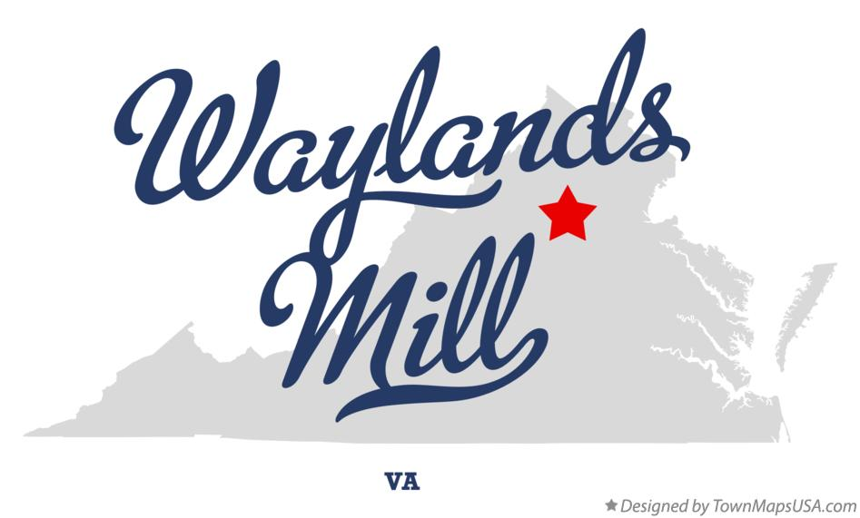 Map of Waylands Mill Virginia VA