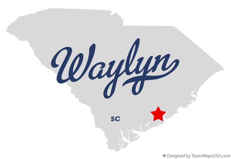 Map of Waylyn South Carolina SC