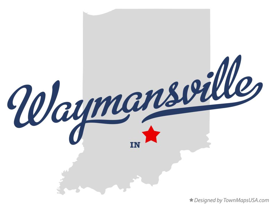 Map of Waymansville Indiana IN