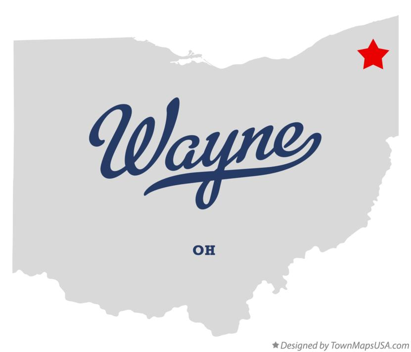 Map of Wayne Ohio OH