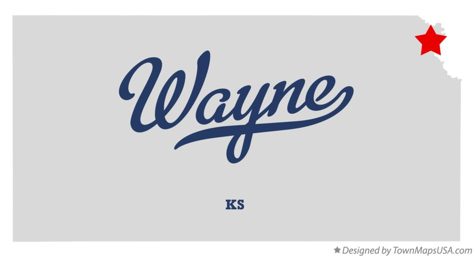 Map of Wayne Kansas KS