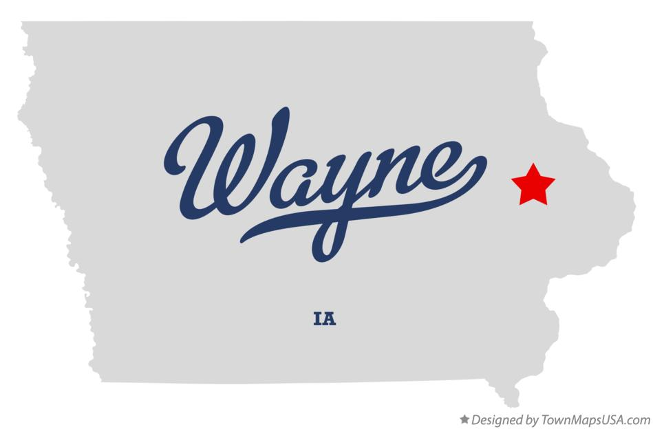 Map of Wayne Iowa IA