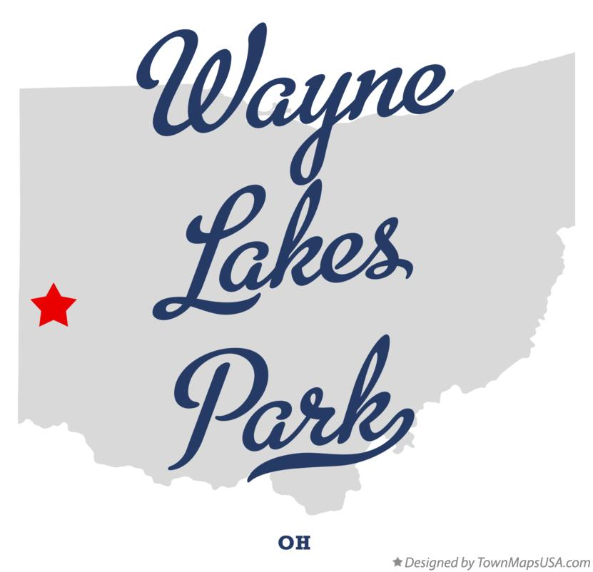 Map of Wayne Lakes Park Ohio OH