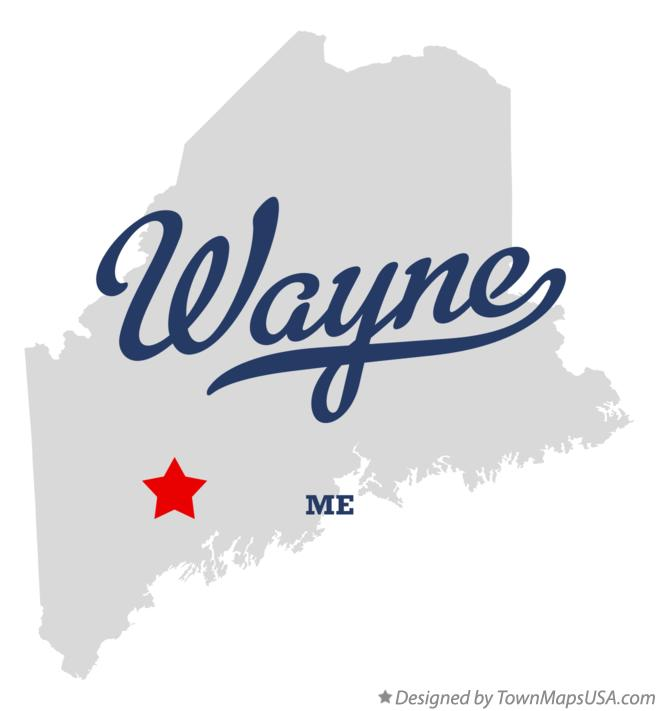 Map of Wayne Maine ME