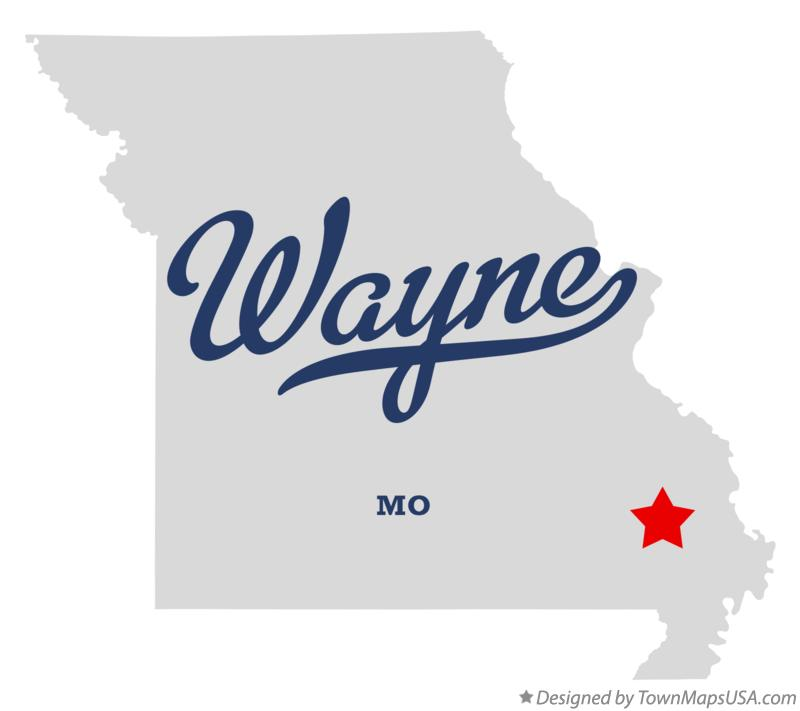 Map of Wayne Missouri MO