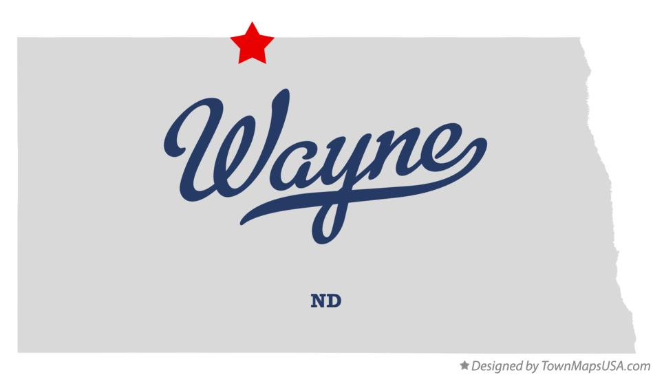 Map of Wayne North Dakota ND