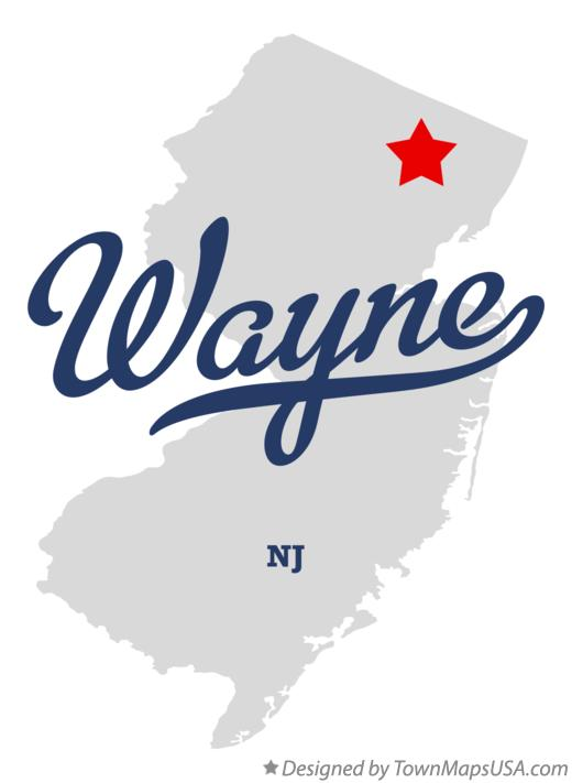 Map of Wayne New Jersey NJ