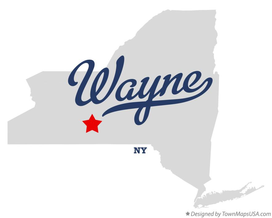Map of Wayne New York NY