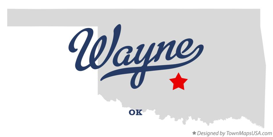 Map of Wayne Oklahoma OK