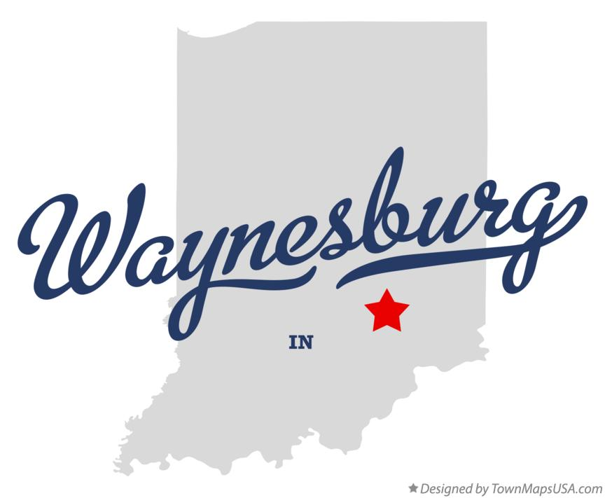 Map of Waynesburg Indiana IN