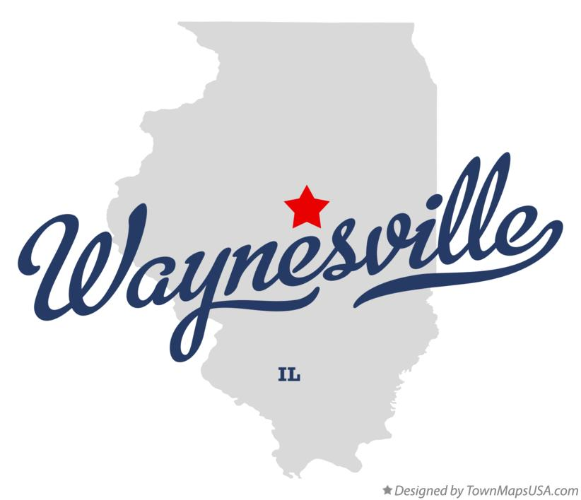 Map of Waynesville Illinois IL