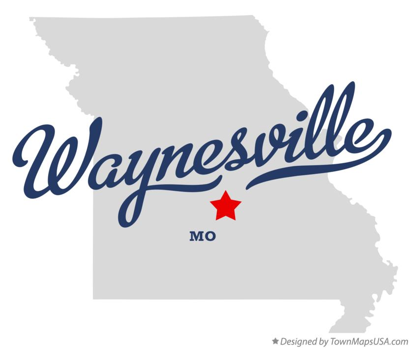 Map of Waynesville Missouri MO
