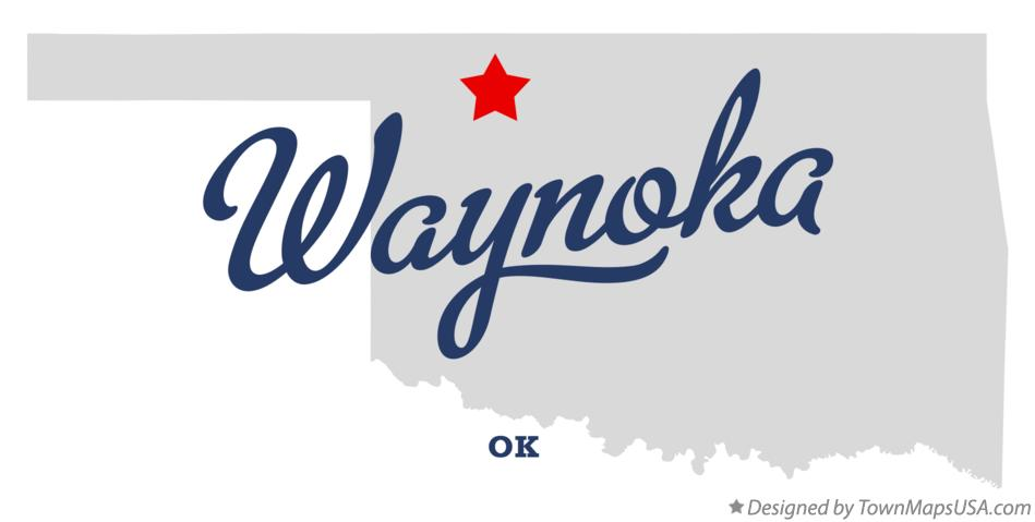 Map of Waynoka Oklahoma OK