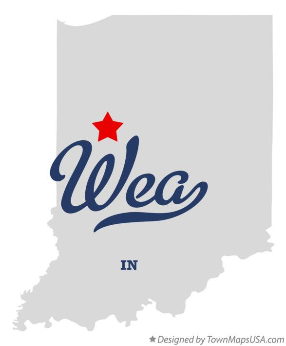 Map of Wea Indiana IN