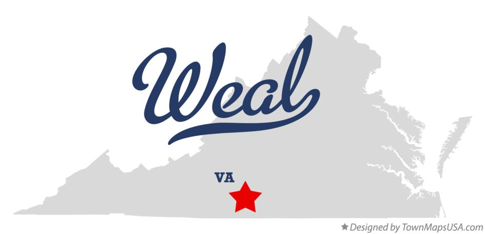 Map of Weal Virginia VA