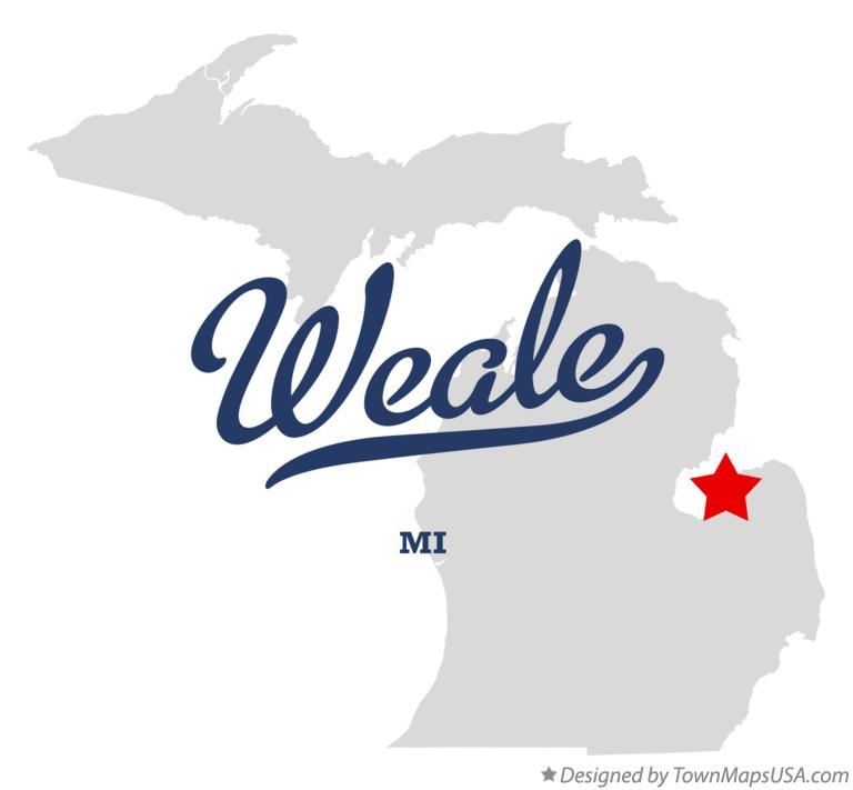 Map of Weale Michigan MI