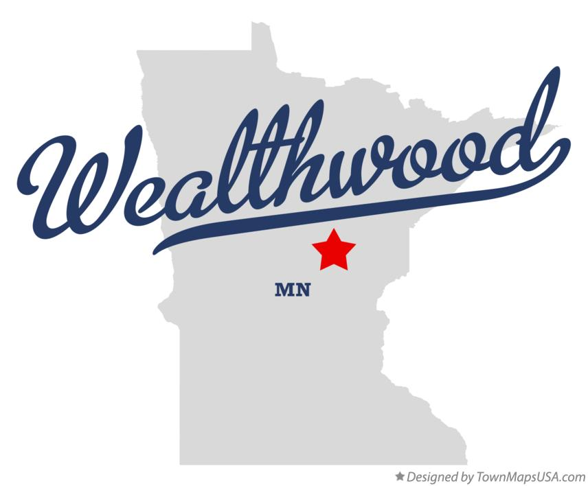 Map of Wealthwood Minnesota MN