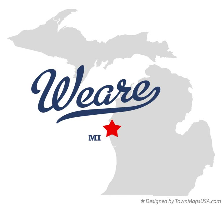 Map of Weare Michigan MI