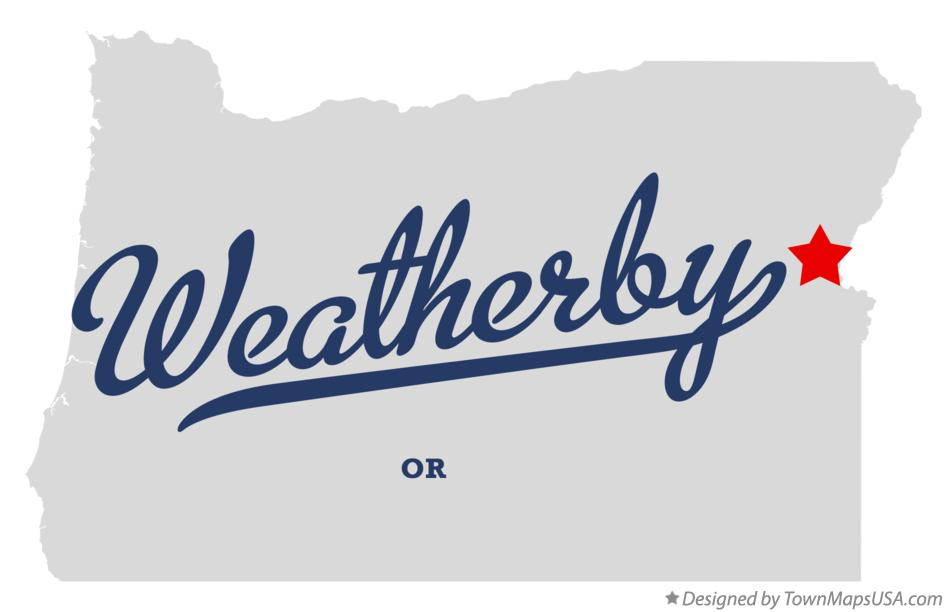 Map of Weatherby Oregon OR