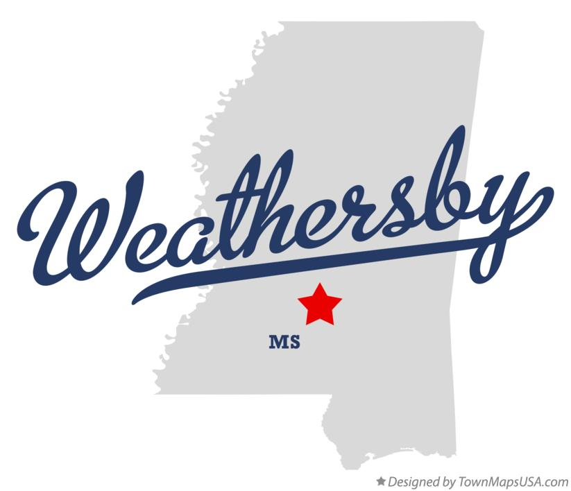 Map of Weathersby Mississippi MS