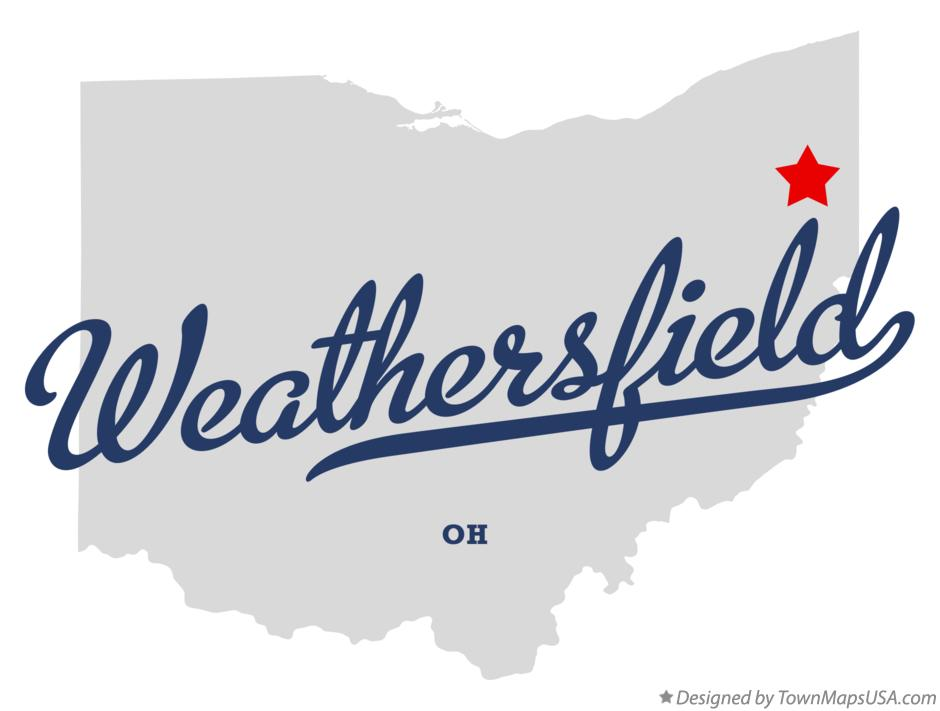 Map of Weathersfield Ohio OH