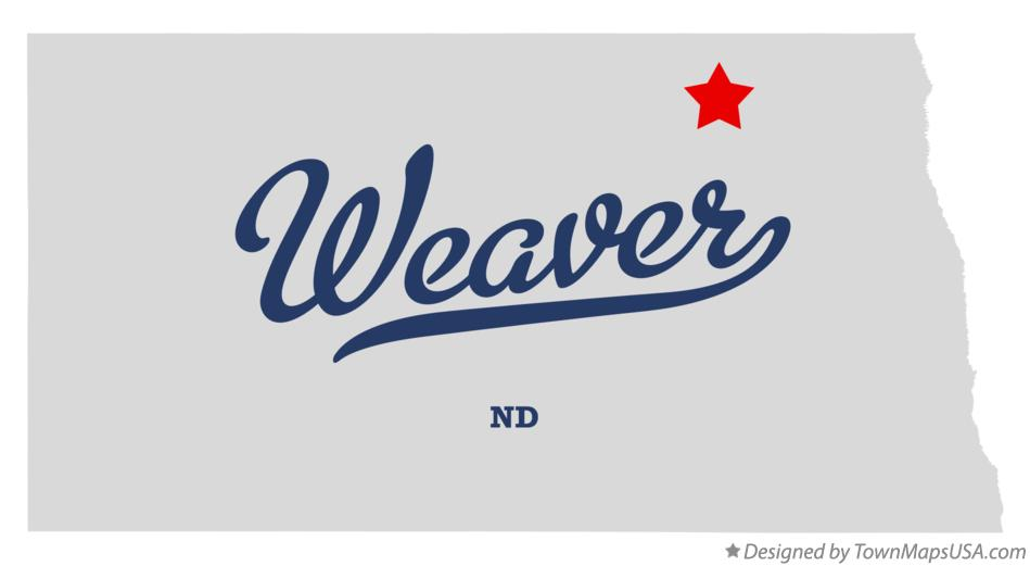 Map of Weaver North Dakota ND