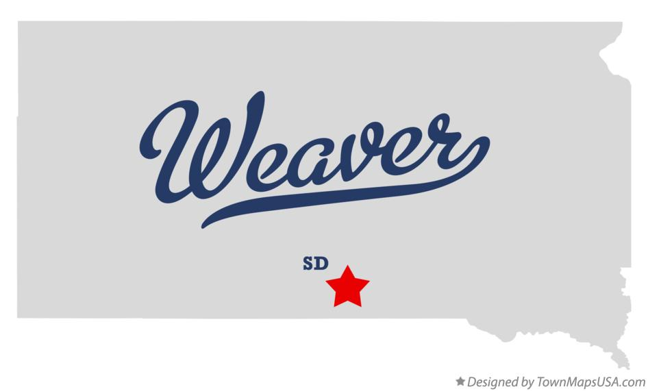 Map of Weaver South Dakota SD