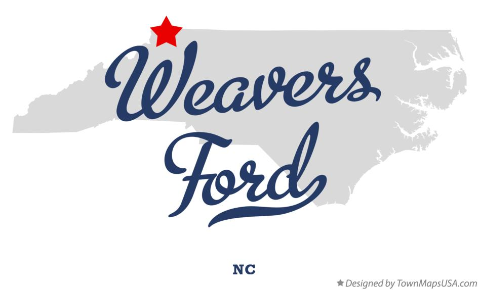 Map of Weavers Ford North Carolina NC