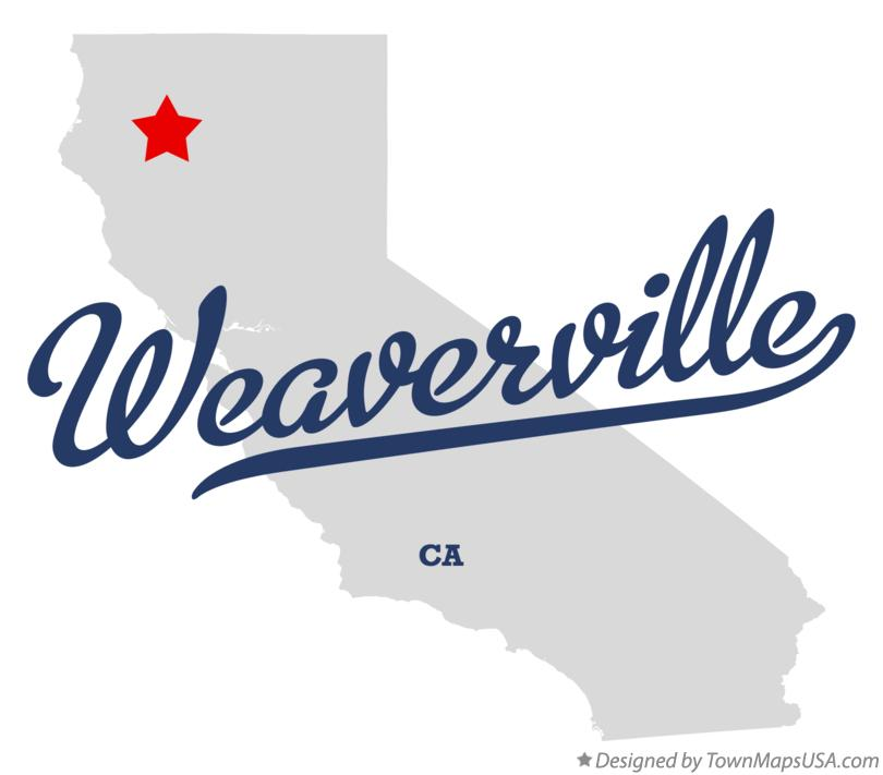 Map of Weaverville California CA