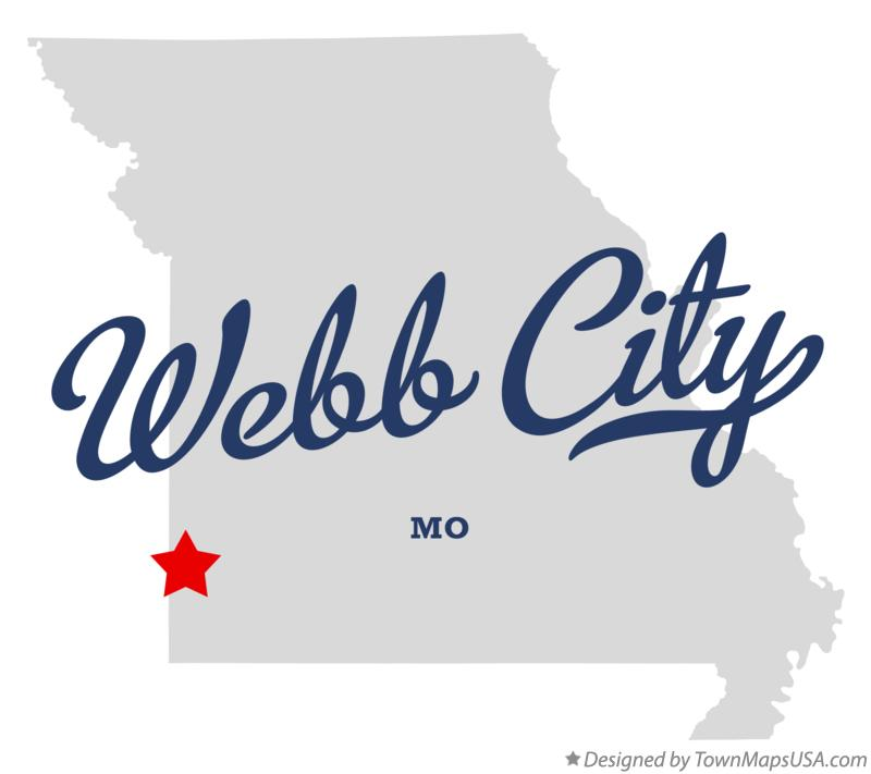 Map of Webb City Missouri MO