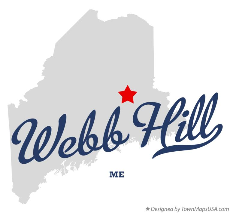 Map of Webb Hill Maine ME