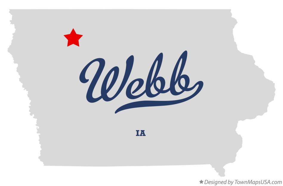 Map of Webb Iowa IA