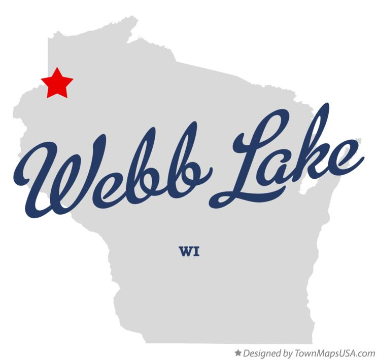 Map of Webb Lake Wisconsin WI