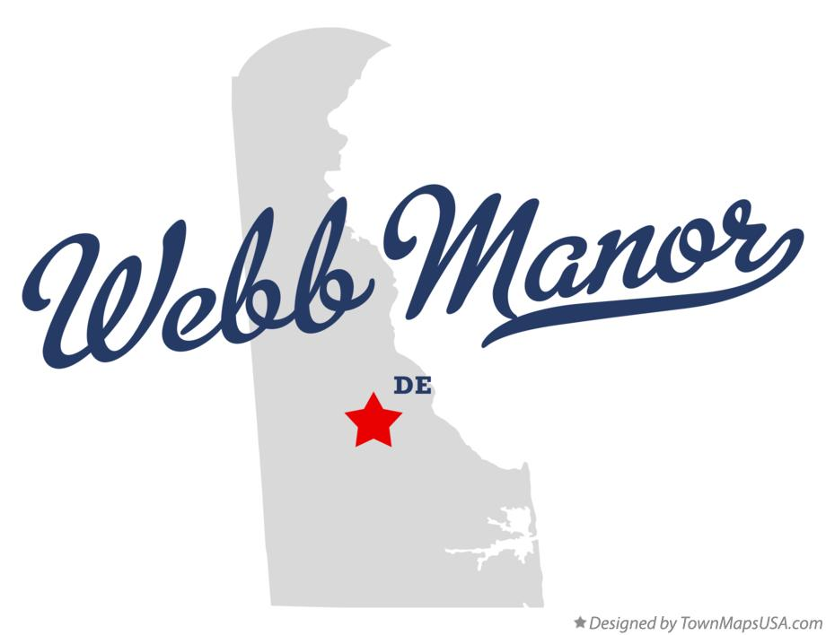 Map of Webb Manor Delaware DE