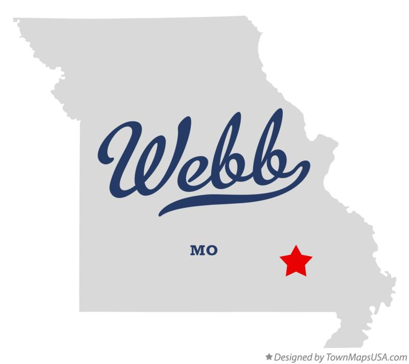 Map of Webb Missouri MO