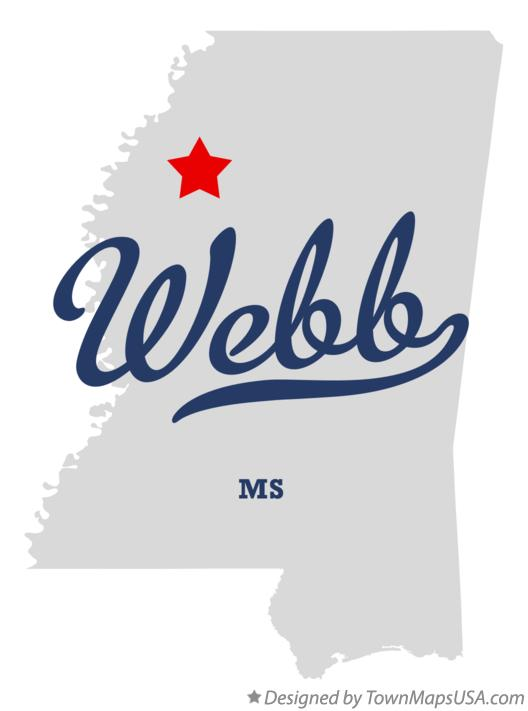 Map of Webb Mississippi MS