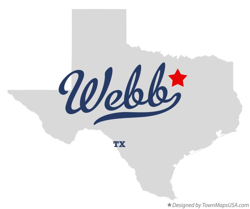 Map of Webb Texas TX