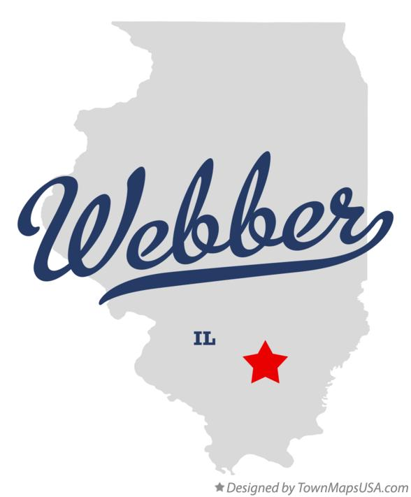 Map of Webber Illinois IL