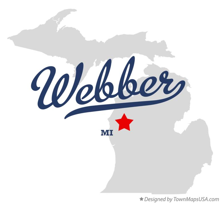 Map of Webber Michigan MI