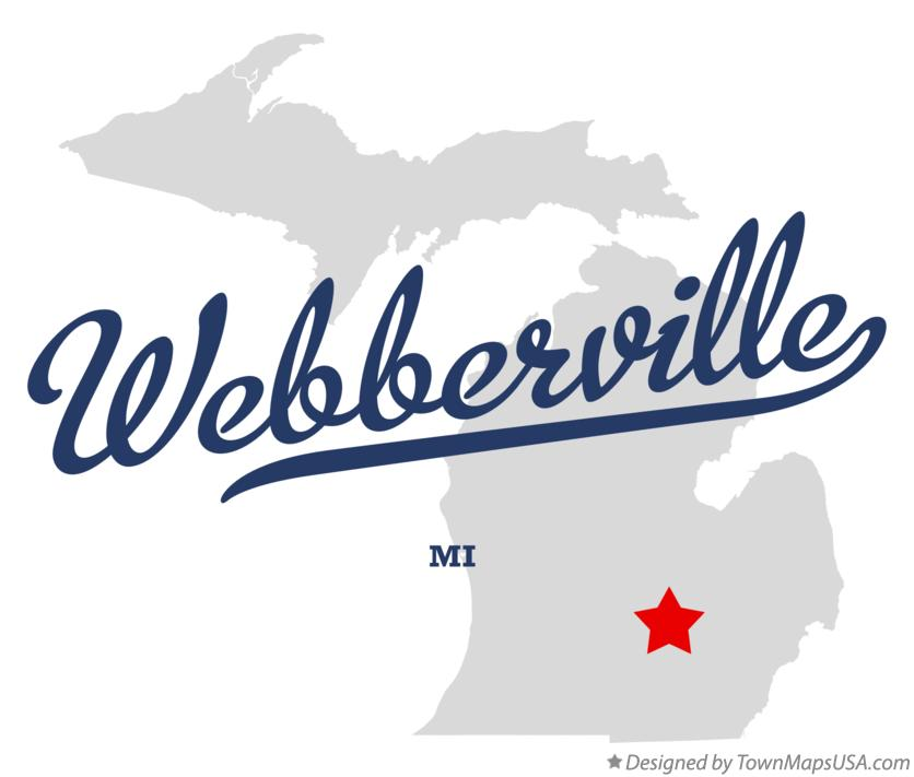 Map of Webberville Michigan MI