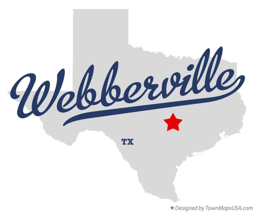 Map of Webberville Texas TX