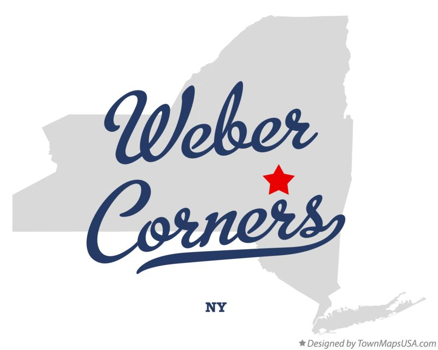 Map of Weber Corners New York NY