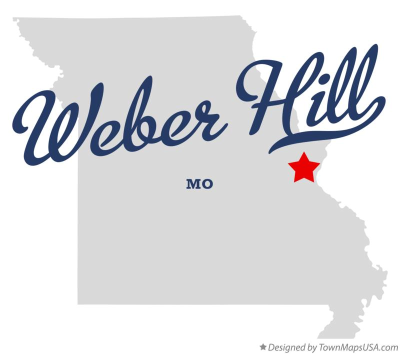 Map of Weber Hill Missouri MO