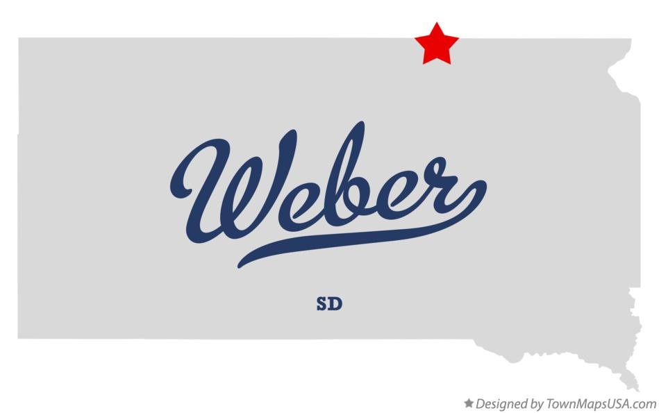 Map of Weber South Dakota SD