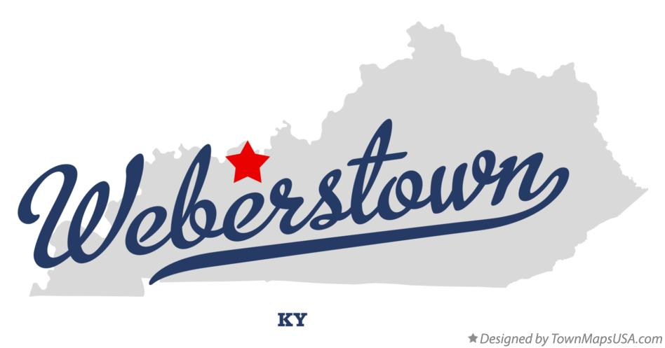 Map of Weberstown Kentucky KY